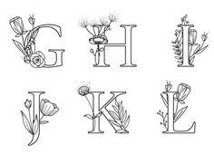 Affiche lettre google à imprimer Hand Embroidery Patterns Flowers, Hand Embroidery Art, Embroidery Letters, Embroidery Stitches, Caligraphy Alphabet, Hand Lettering Alphabet, Lettering Art, Monogram Alphabet, Bullet Journal Art
