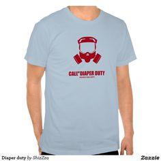 Diaper duty tshirts