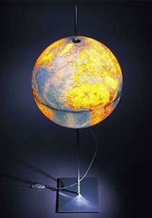 so cool! Globus earth lamp. $214