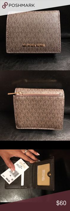 Michael Kors Wallet Small but very compact has a lot of card slots BRAND NEW Michael Kors Bags Wallets