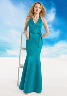 I love this style of dress. The color is nice too. It would be great for bridesmaids