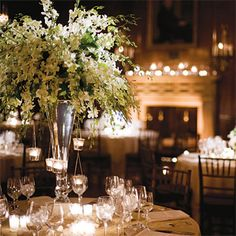 Brides Magazine: Centerpieces for Winter Weddings
