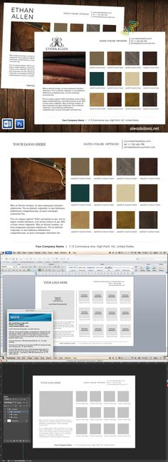 colour swatches-product line sheet. Stationery Templates. $7.00