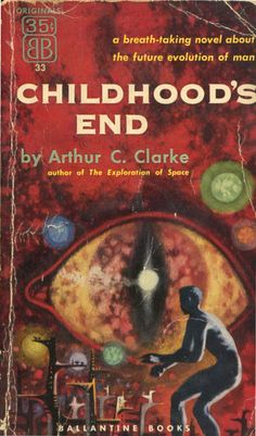 Childhood's End by Arthur C. Clarke.     The Overlords appeared suddenly over every city-intellectually, technologically, and militarily superior to humankind. Benevolent, they made few demands: unify earth, eliminate poverty, and end war. With little rebellion, humankind agreed, and a golden age began. But at what cost? With the advent of peace, man ceases to strive for creative greatness, and a malaise settles over the human race....