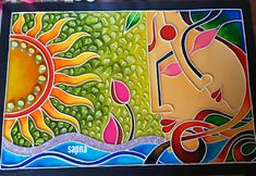 20 new Ideas painting glass wall beautiful Mural Painting, Mural Art, Painting On Wood, Glass Painting Designs, Clay Wall Art, Clay Art Projects, Madhubani Painting, Acrylic Painting Techniques, Colorful Wall Art