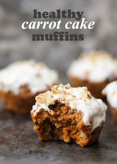 Yes, you can now have carrot cake for breakfast thanks to these healthy carrot cake muffins! Under 200 calories and full of good for you ingredients!