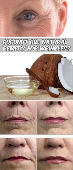 Coconut oil is good for wrinkles