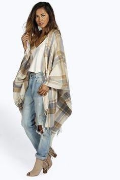 Eleanor Oversize Check Cape