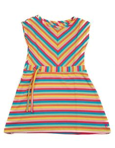 Someone Kids - Striped dress with candy cane colours - Pepatino.be