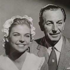 "Walt Disney and daughter, Sharon. Taken while filming ""Johnny Tremain"" in 1957. I had no idea she was in that film!"