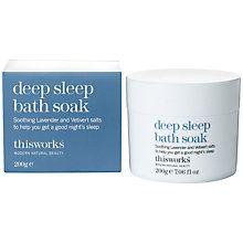Buy This Works Deep Sleep Bath Soak, 200g Online at johnlewis.com