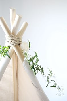 Create your own teepee - without sewing! This sturdy teepee folds up for indoor / outdoor play & can be stowed away!