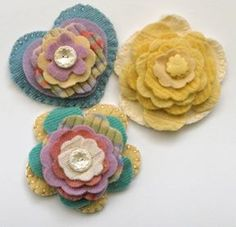 Items similar to Fabric Flower Pin made from recycled Cashmere and Wool Sweaters on Etsy Fabric Flower Pins, Wool Sweaters, Recycling, Pretty, Felting, Artists, Jewelry, Jewlery, Felt Baby