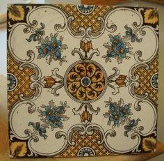 Antique Tiles, Vintage Tile, Antique Art, Tile Art, Mosaic Tiles, Minton Tiles, Art Nouveau Tiles, Style Tile, Decorative Tile