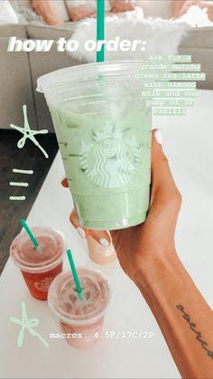 Ever wonder HOW to order those amazing Keto Starbucks drinks? Need to lose weigh.Ever wonder HOW to order those amazing Keto Starbucks drinks? Need to lose weight fast? These Keto Starbucks drinks are for you! Starbucks Hacks, Starbucks Tea, Healthy Starbucks Drinks, Starbucks Secret Menu Drinks, How To Order Starbucks, Yummy Drinks, Starbucks Refreshers, Starbucks Green Tea Drinks, Starbucks Smoothie
