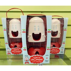 Look at the cute packaging of the Cherry Chomper! Almost as cute as the product itself!