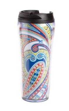 Travel Mug | Vera Bradley. Love it. But I don't drink coffee.