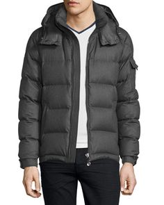 Montgenevre Quilted Down Jacket, Gray by Moncler at Bergdorf Goodman.