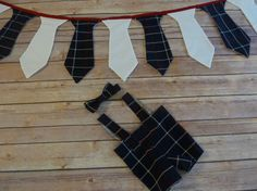 Grandpa's Overalls and Tie with Tie Banner  Sale 25 by sewsueprops, $55.00
