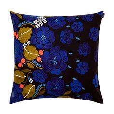Marimekko Sonja Black/Blue Throw Pillow $41.00