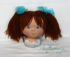 Статичная прическа для вальдорфской куклы - Ярмарка Мастеров - ручная работа, handmade