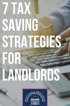 Read about 7 Tax Saving Strategies For Landlords. Petty Son updates you regularly with anything and everything that's happening around you. Investment Property, Rental Property, Income Property, Renting Out Your House, Real Estate Rentals, Real Estate Investor, Financial Tips, Home Ownership, Property Management