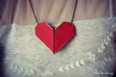 diy collier coeur origami saint valentin