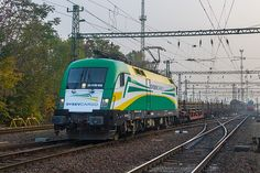 ES 64 on the first run the GySEV Cargo brand new livery from Sopron to Budapest . Rail Train, Electric Locomotive, Bahn, Hungary, Budapest, Taurus, Transportation, Europe, Locs