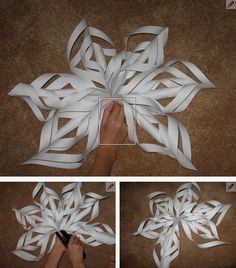 Six Pointed 3D Snowflake Tutorial   Totally Love It