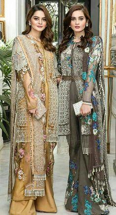 Aiman and Minal khan Pakistani Fashion Casual, Pakistani Dresses Casual, Pakistani Wedding Outfits, Asian Fashion, Indian Outfits, Bollywood Fashion, Beautiful Dresses, Nice Dresses, Stylish Dresses