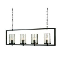 Bronze Gold 12 Light Longhope Rectangular Chandelier Currey & Company 18 Inches High 55 Inches Wide 6 Inches Deep