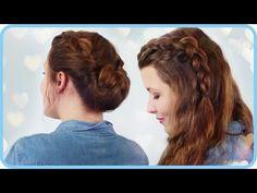 ▶ Einfache Frisuren für Alltag, Schule, Arbeit und Sommer - YouTube