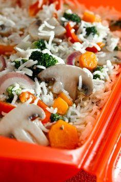 Arroz basmati con verduras en el microondas Easy Cooking, Cooking Recipes, Rice Grain, Salad Recipes, Food And Drink, Healthy Eating, Tasty, Ethnic Recipes, Microwave