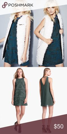 ⚡️SALE⚡️Embroidered Shift Dress - Forest Green Swirling tonal embroidery nuances the front of an A-line chiffon shift cut with a beguiling V-back. Back double hook-and-bar closure. 100% polyester. Dry clean. By ASTR; imported. Urban Outfitters Dresses