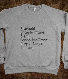 Kidrauhl, shawty mane, biebs, jason mccann, purple ninja, justin bieber <3