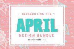 FONT BUNDLE -- similar to the bundles on Creative Market.  The April Bundle By TheHungryJPEG