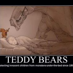 Funny pictures about Why you should always sleep with a Teddy bear. Oh, and cool pics about Why you should always sleep with a Teddy bear. Also, Why you should always sleep with a Teddy bear photos. I Smile, Make Me Smile, Doug Funnie, Monster Under The Bed, Innocent Child, Demotivational Posters, My Teddy Bear, Laugh Out Loud, In This World