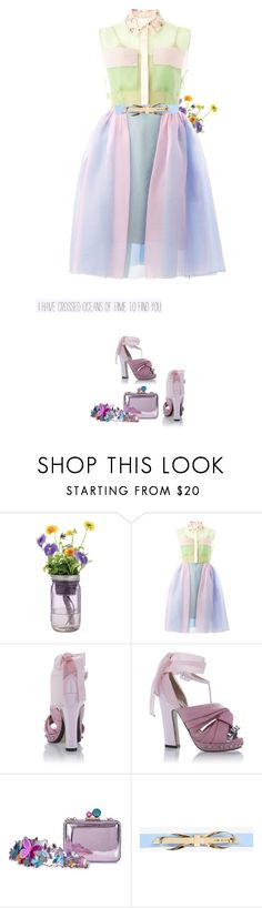 """""""*1740"""" by cutekawaiiandgoodlooking ❤ liked on Polyvore featuring Modern Sprout, Delpozo, N°21, Sophia Webster, Ted Baker, candycolored and dreamydresses"""