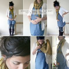 Maternity outfit ideas    Pretty much what I plan on wearing all fall/winter. I like her blog because she says where the clothes are from