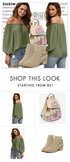 """""""Shein"""" by adela-mehic ❤ liked on Polyvore Romwe, Shoe Bag, Pretty, Polyvore, Stuff To Buy, Shopping, Collection, Design, Fashion"""