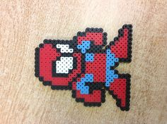 Spiderman perler beads by Molly W.