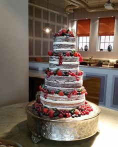 Naked cake - April wedding at the Anthologist