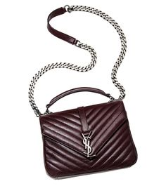 Yves Saint Laurent Monogram Fringe College Suede Shoulder Bag ...