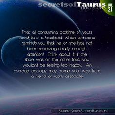 Taurus Horoscope. Hey Taurus, follow us for horoscopes every day!