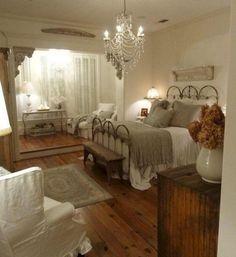 My dream bedroom! Antique Neutral Bedroom @ Home Idea Network Dream Rooms, Dream Bedroom, Home Bedroom, Bedroom Ideas, Pretty Bedroom, Bedroom Rustic, Bedroom Designs, Modern Bedroom, Bedroom Inspiration