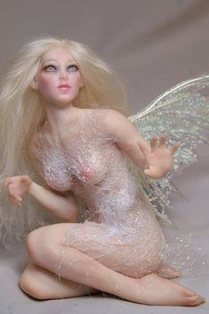 custom ooak pure sculpted fairy or mermaid art by redwyvernstudio, $195.00