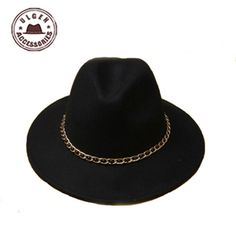 ba61728d923 The new dome rolled pure wool large rims side of a small felt hat women  winter