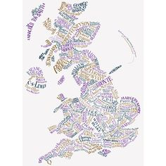 Literary map of England by Geoff Sawers and Bridget Hannigan