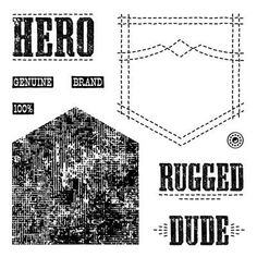 Close to My Heart My Acrylix Stamp Set    Rugged Dude  Set of 9    $9.95