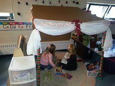 Preschool classroom library.